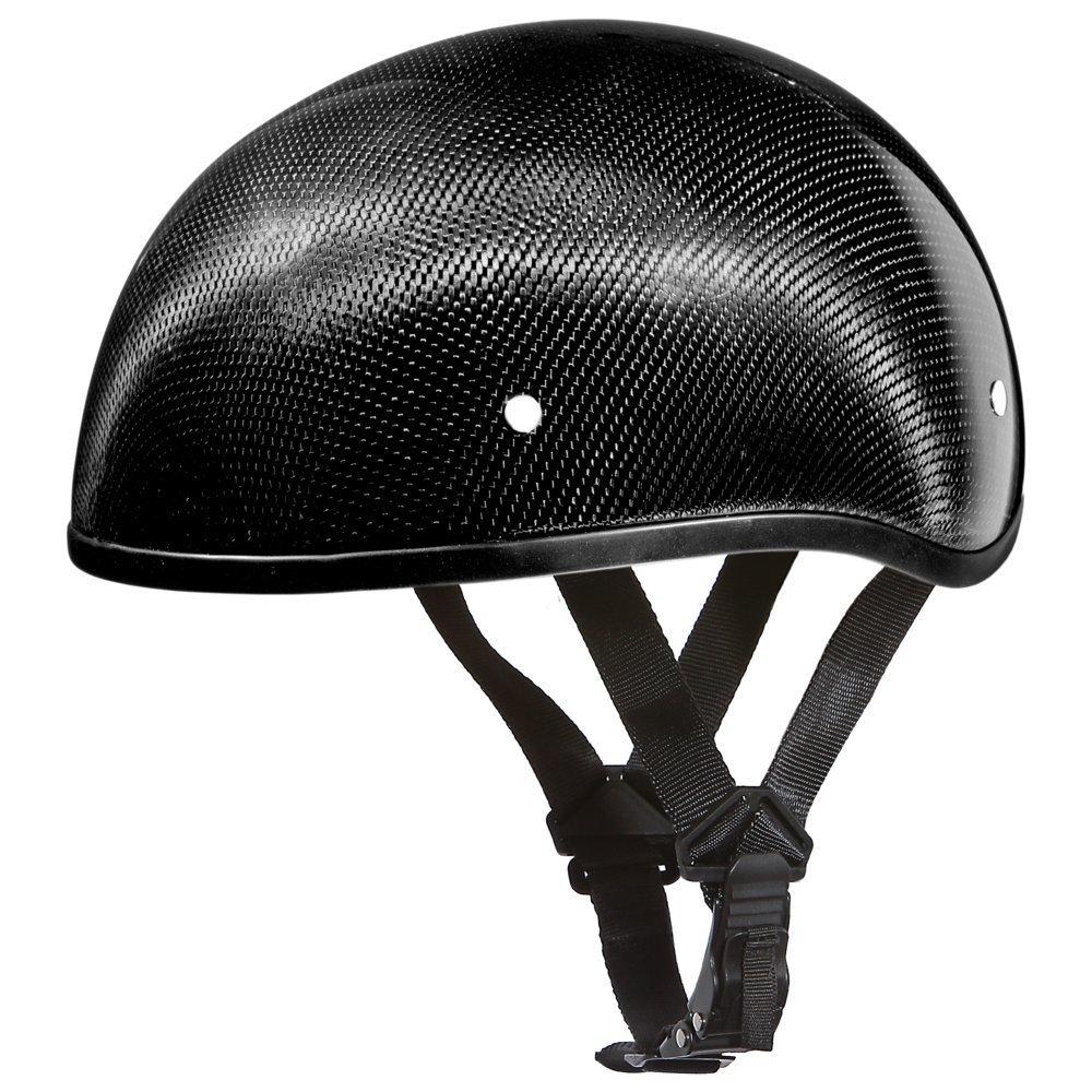 DAYTONA HELMETS DOT Skull Cap Carbon Fiber Grey Helmet (D2-GNS)
