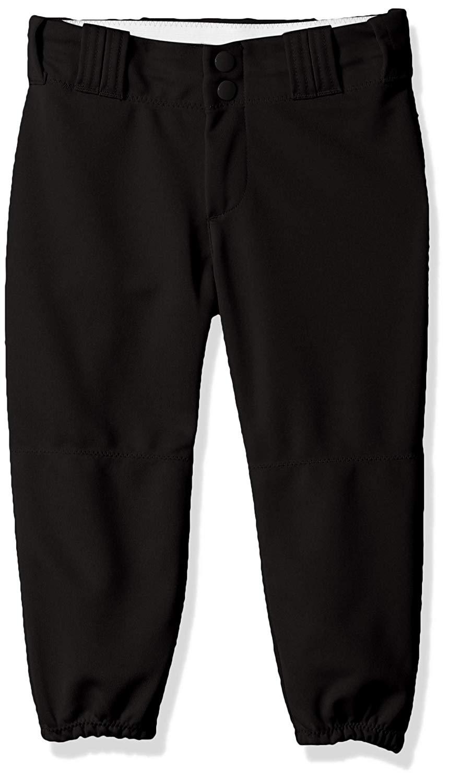 ALLESON ATHLETIC Girls Belt Loop Black Fastpitch Pant (605PBWY-BK)