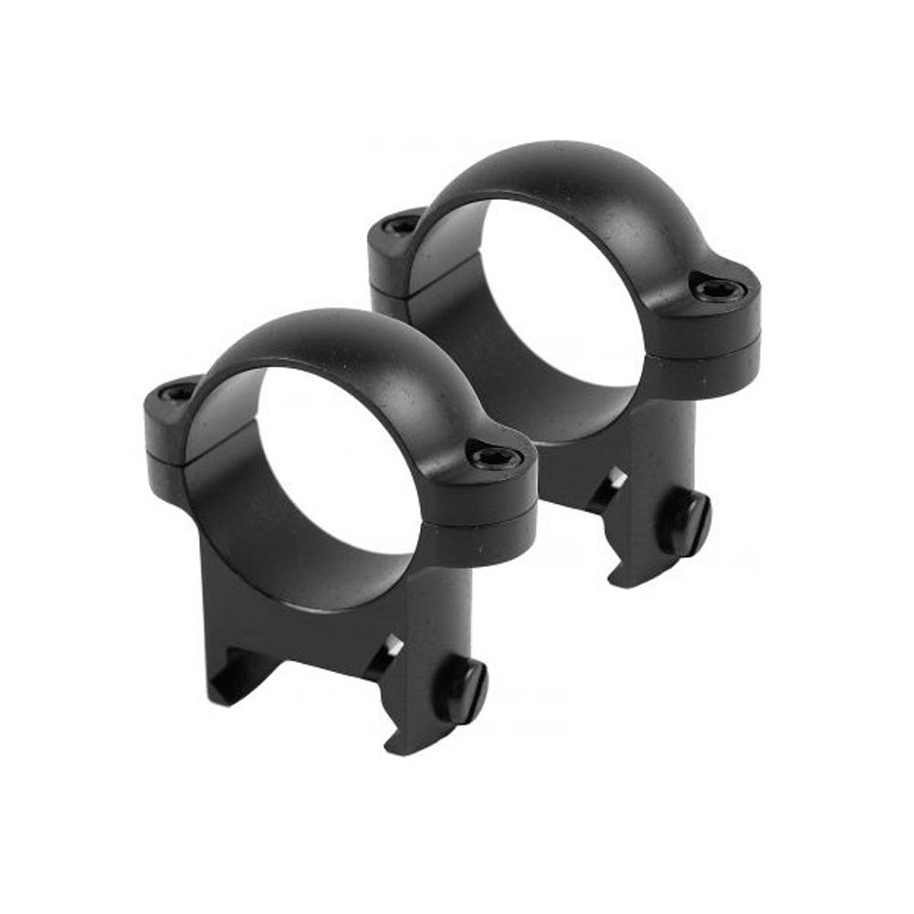 BURRIS Zee Weaver-Style 1in Medium Matte Black Rings (420084)
