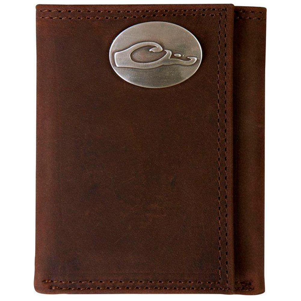 DRAKE Leather Tri-Fold Wallet (DA7005-LEA)
