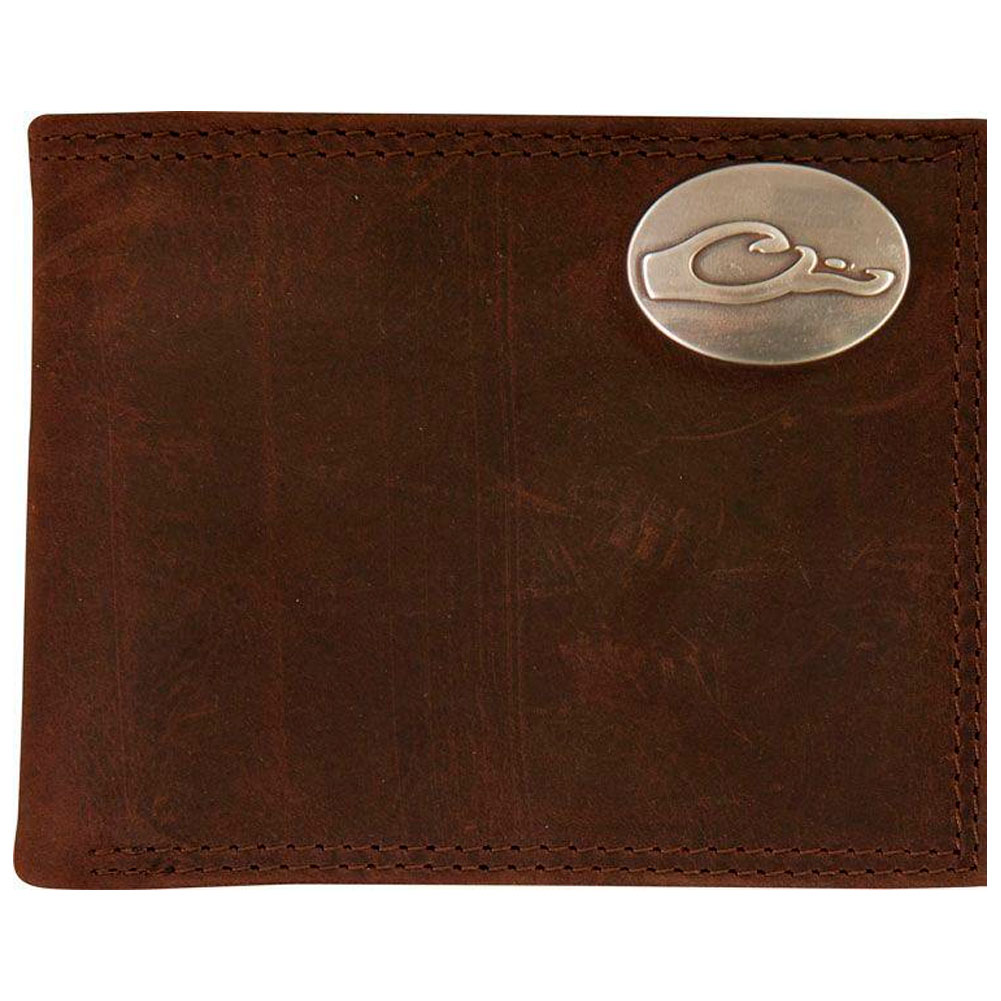 DRAKE Leather Bi-Fold Wallet (DA7006-LEA)