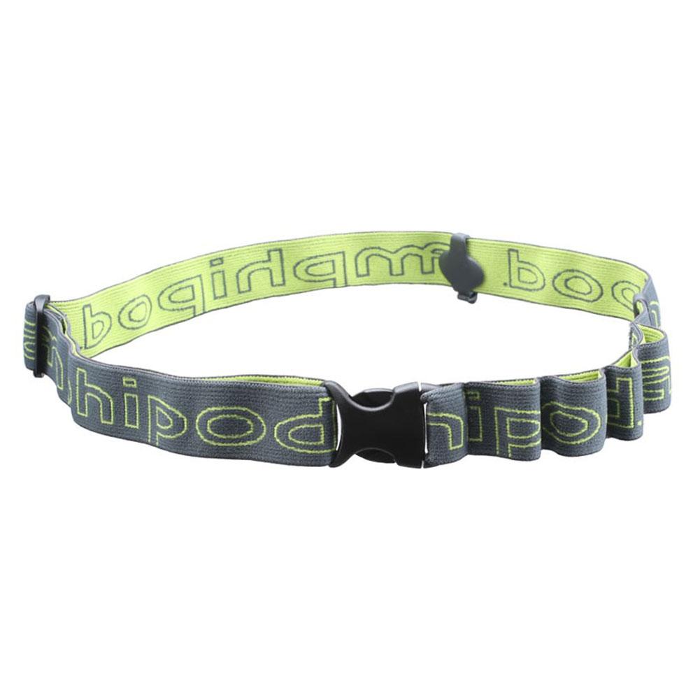 AMPHIPOD Race-Lite Quick-Clip Plus Charcoal/Green Number Belt (9082-3)