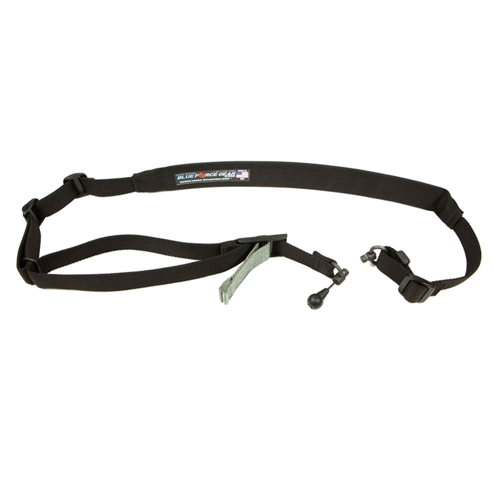 BLUE FORCE Padded Vickers 2-To-1 Red Swivel Black Sling (VCAS-2TO1-RED-200-AA-BK)