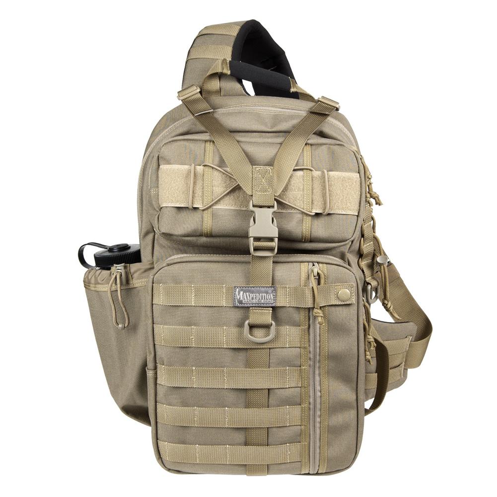 MAXPEDITION Kodiak Gearslinger Backpack, Khaki (0432K)