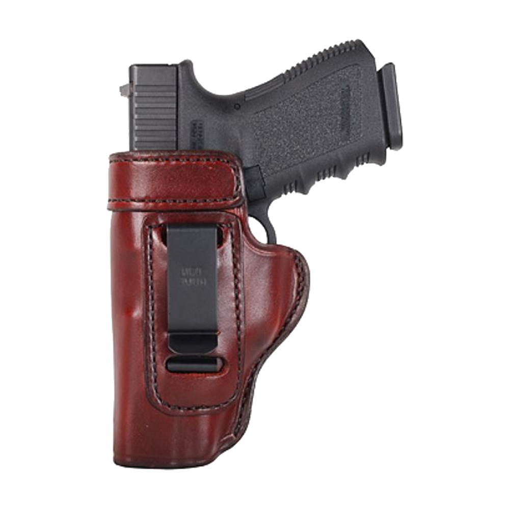 DON HUME Clip On H715-M Left Hand Brown Holster for Glock 19 (J168036L)