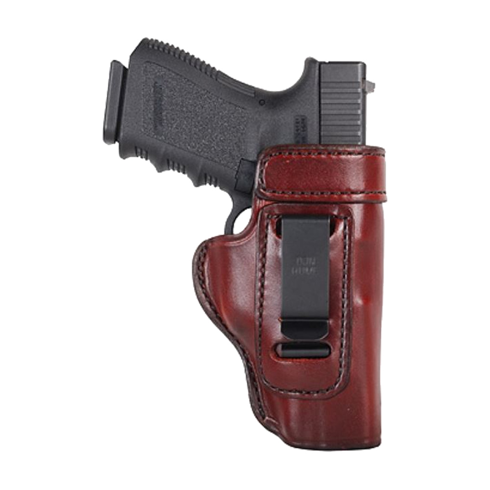 DON HUME Clip On H715-M Right Hand Brown Holster Fits Glock 26/27 (J168038R)