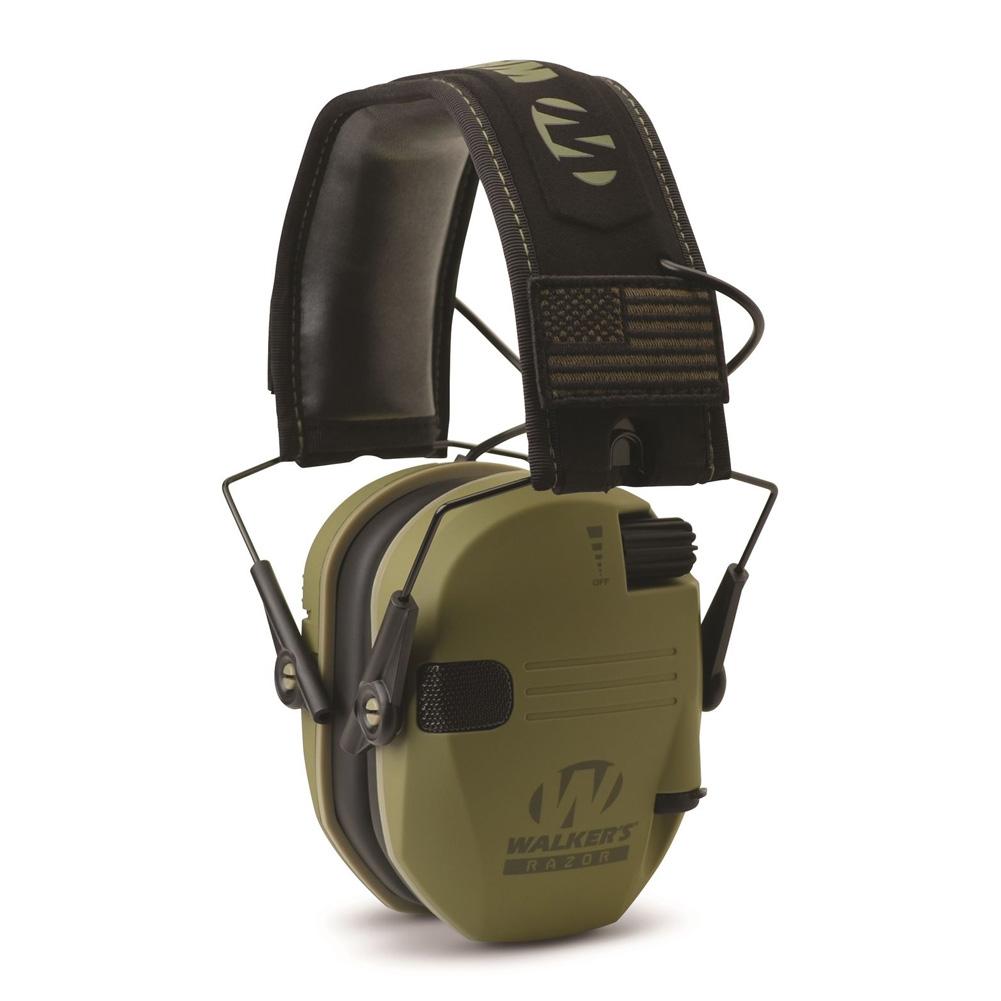 WALKERS GAME EARS Razor Patriot 23 dB Olive Drab Green Earmuff (GWP-RSEMPAT-ODG)
