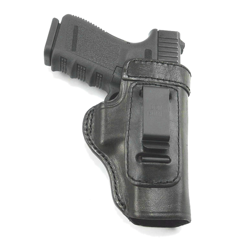 DON HUME Clip On H715-M Right Hand Black Holster Fits Glock 17/22/31/ Taurus PT908 (J168790R)