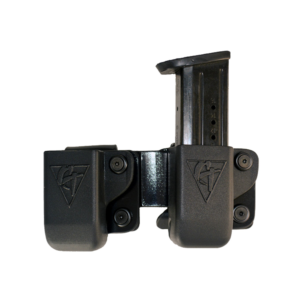 COMP-TAC Twin Belt Clip Mag OWB Kydex Sig 229 .40, 320 9/40, M&P 9/40 Black LSC Magazine Pouch (C62312000LBKN)