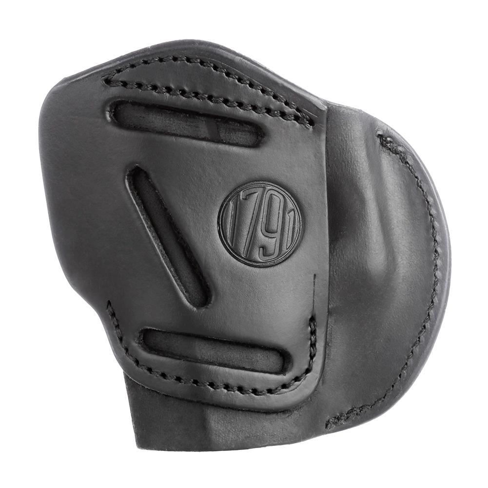 1791 GUNLEATHER 4-Way Leather Size 5 RH Stealth Black Belt Holster (4WH-5-SBL-R)