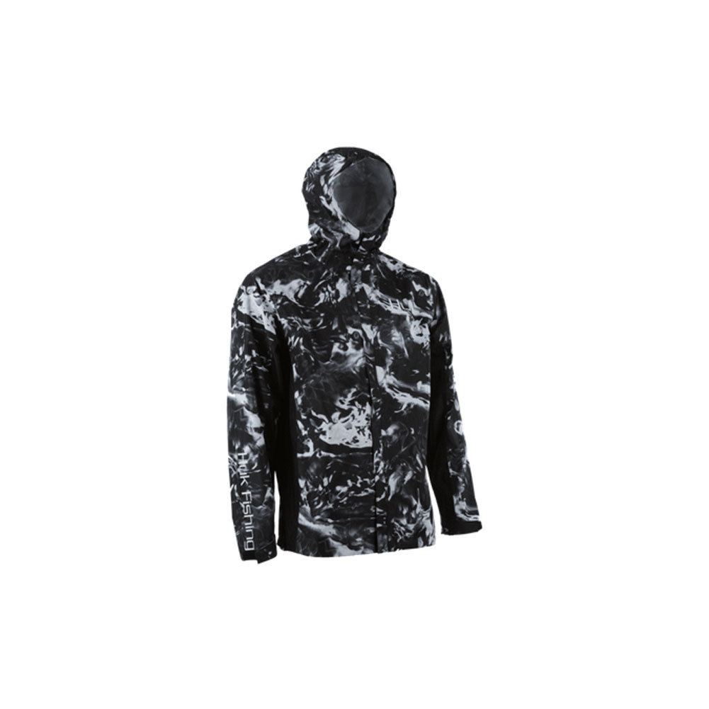 477f95468735f Details about Huk Cya Camo Packable Rain Jacket, Color: Hydro Blackwater  H4000018-078