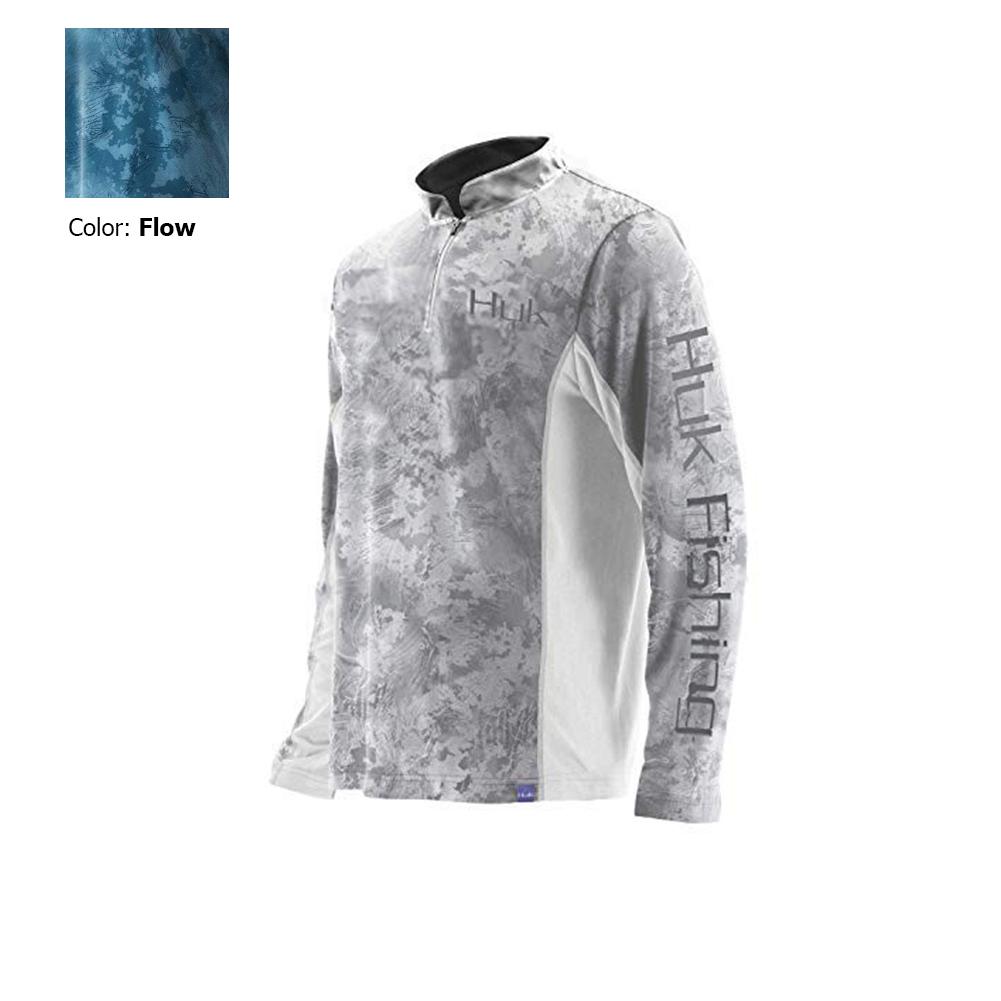 Huk Men/'s Icon SubPhantis 1//4 Zip Long Sleeve Shirt