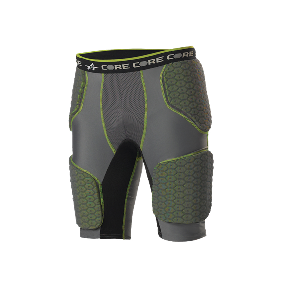 ALLESON ATHLETIC Adult Football 5 Charcoal/Lime Padded Integrated Girdle (5SIPG-CHLI)