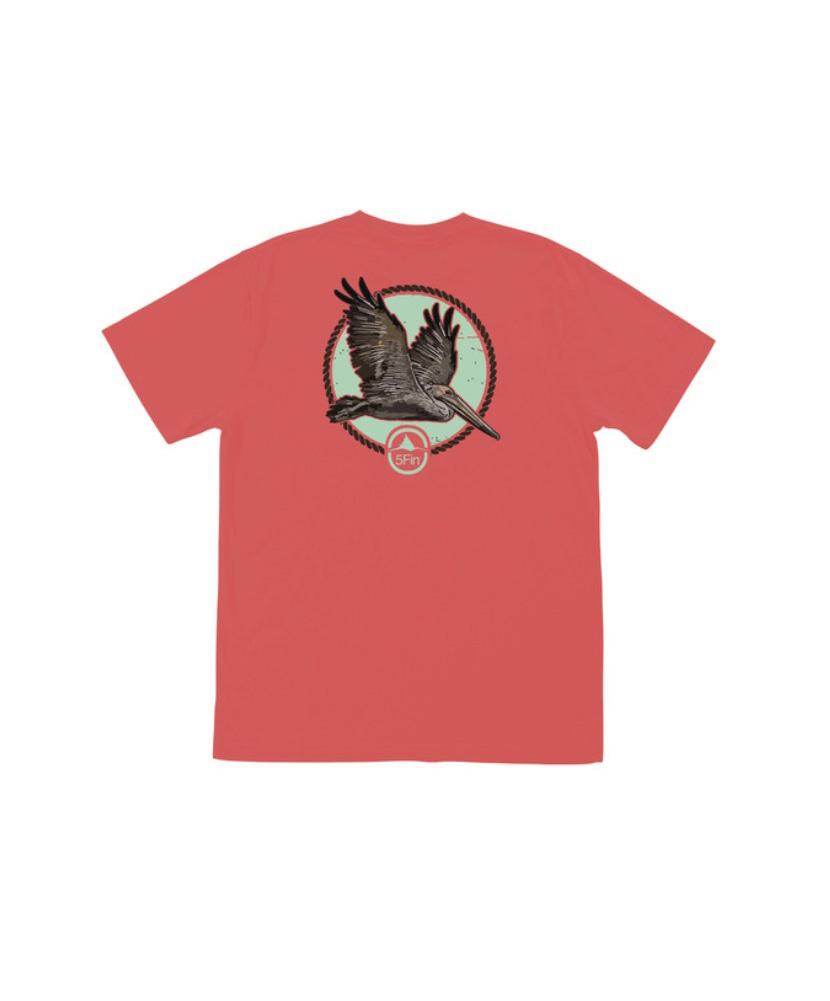 5FIN Mens Skimmer Cotton SS Brick T-Shirt (MFT1009-BRI)