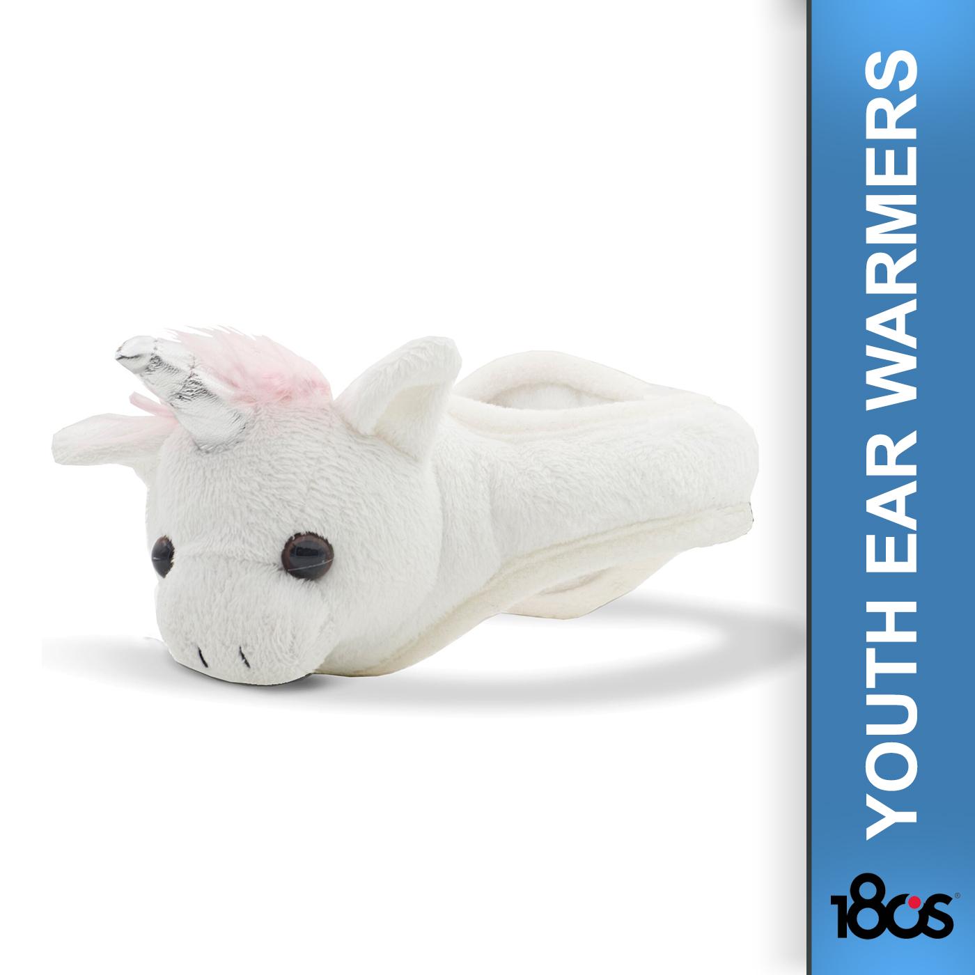 180S Youth Unicorn White/Pink Ear Warmer (41505-911-01)
