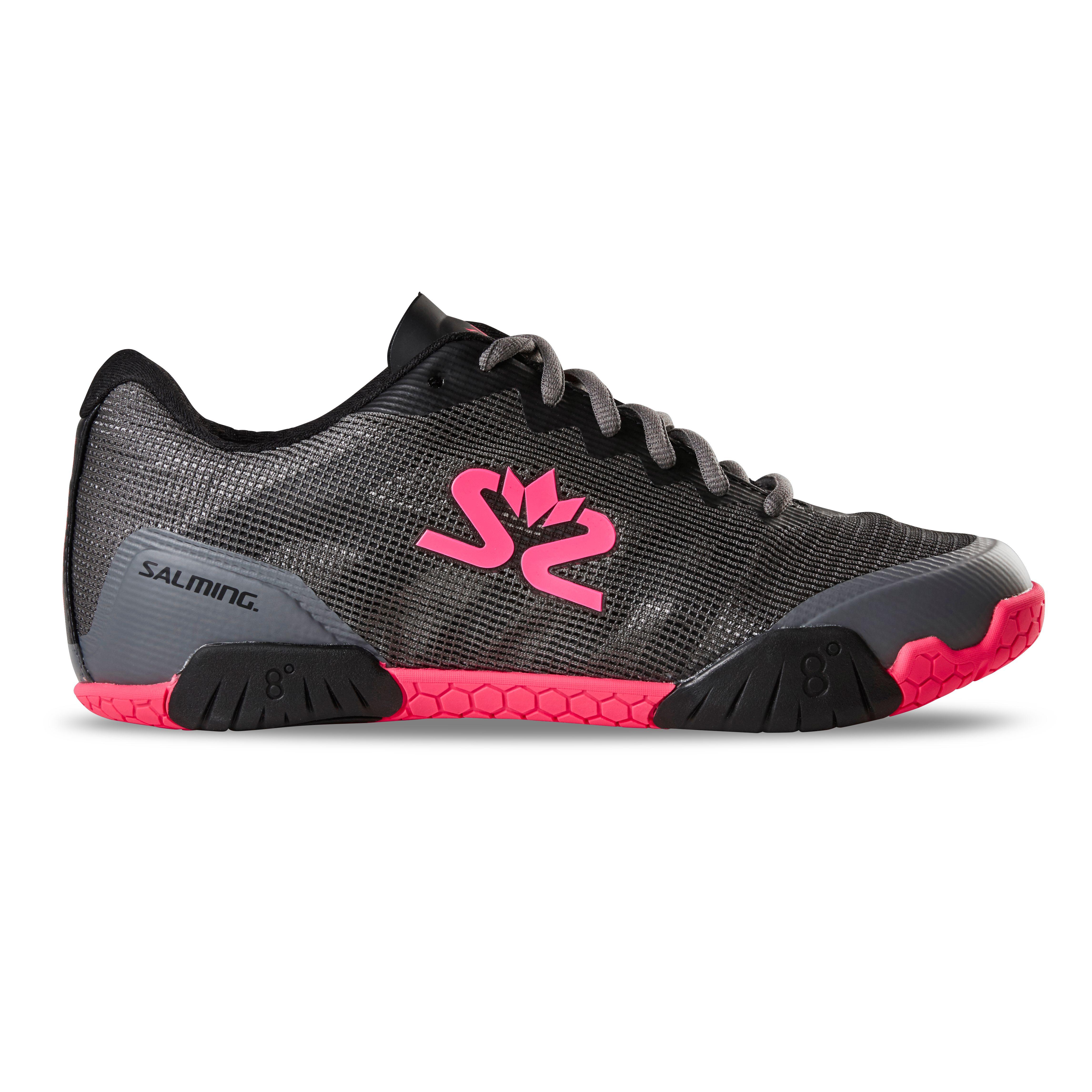 SALMING Women Hawk GunMetal/Pink Shoe (1239086-0251)