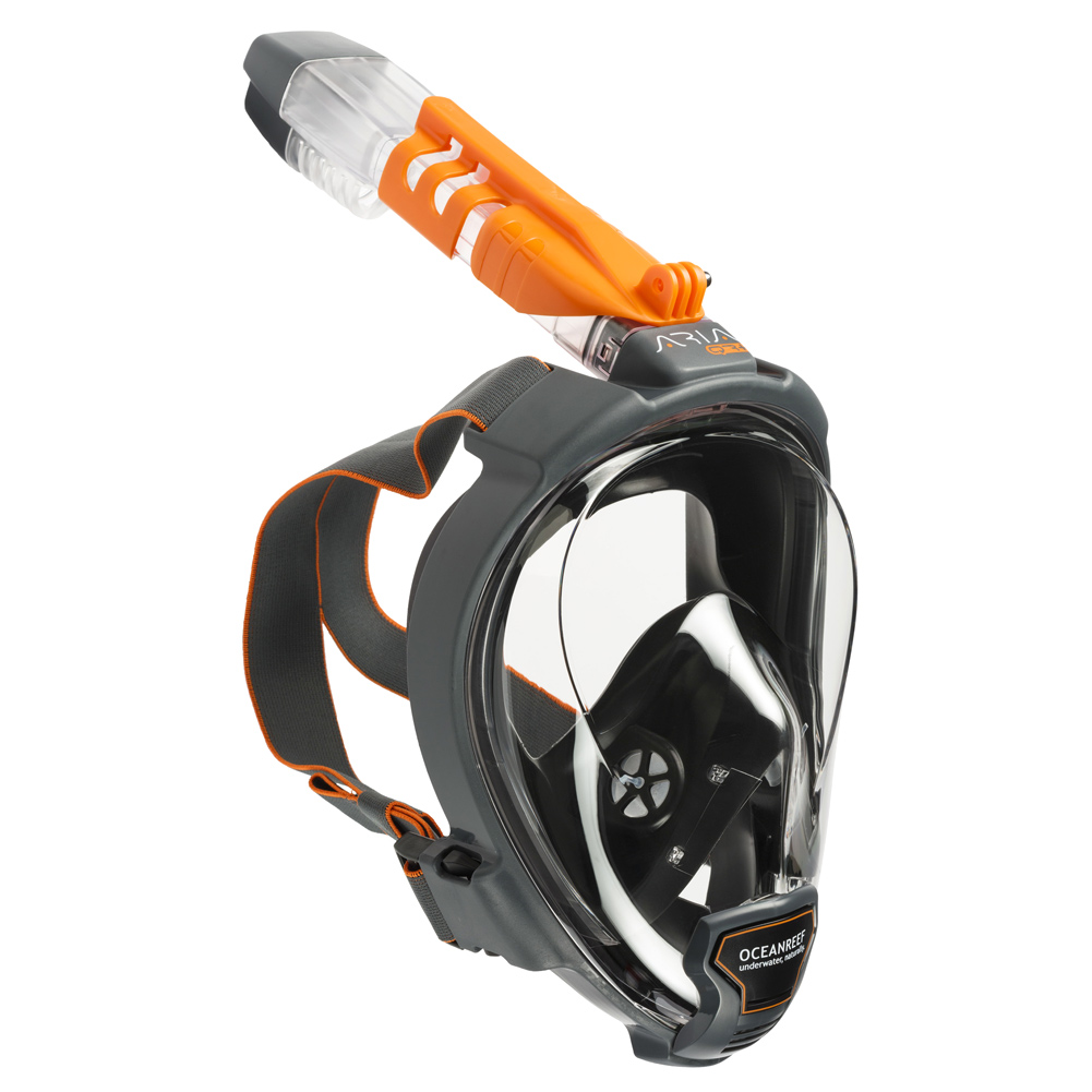 OCEAN REEF Aria QR+ Full Face Snorkeling Mask with Camera Holder