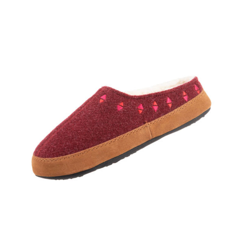 ACORN Womens Geo Embroidered Hoodback Slippers