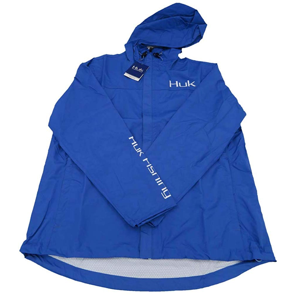 Huk Men/'s CYA Packable Navy Large Rain Jacket