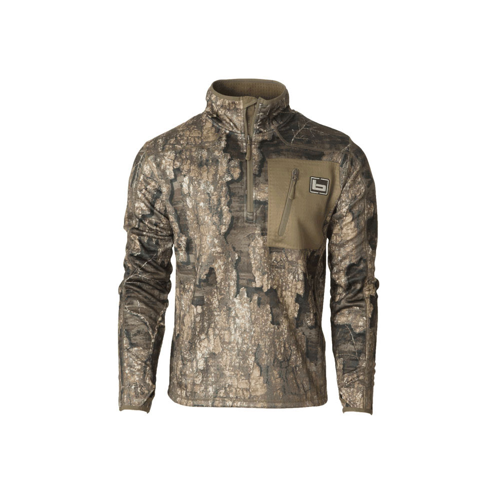 BANDED Mid Layer 1/4 Zip Timber Fleece Pullover (B1010031-TM)