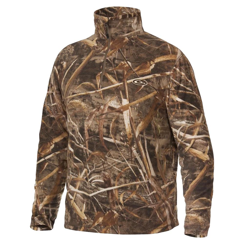 DRAKE MST Camo Camp Fleece 1/4 Zip Pullover