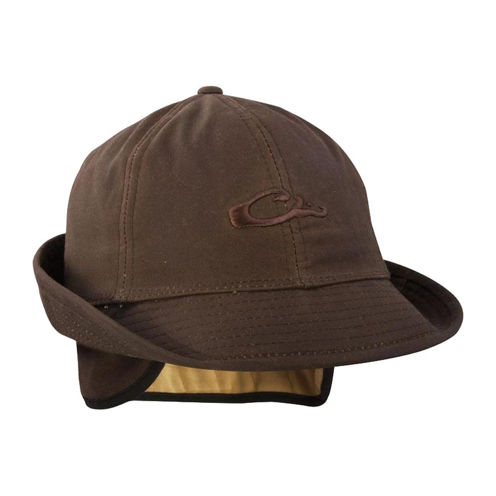 DRAKE Waxed Canvas Jones Brown Hat (DH7007-BRN)