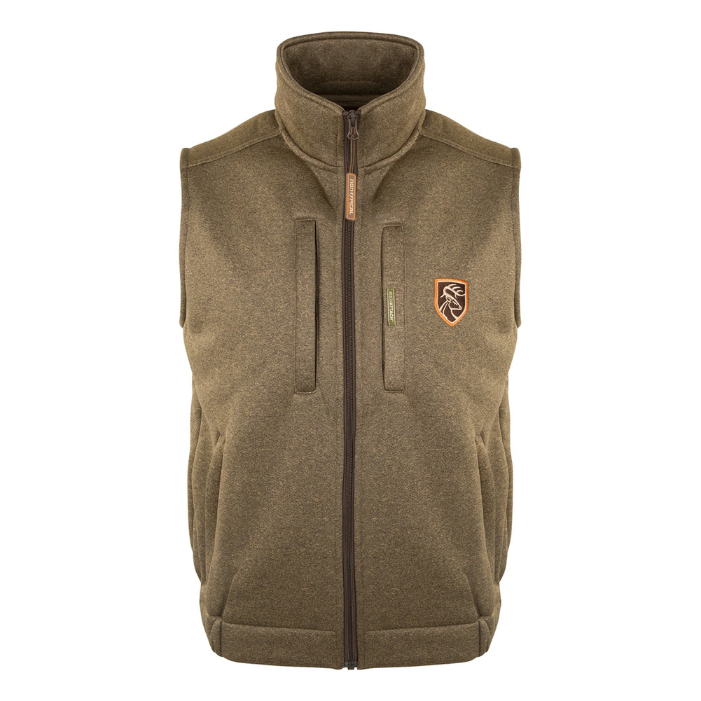 DRAKE Non-Typical Soft Shell Fleece Heathered Vest