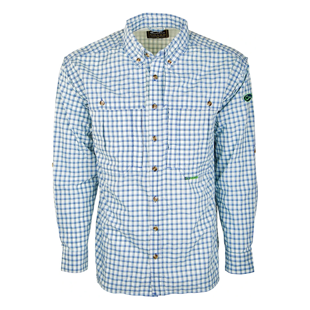 DRAKE Featherlite Wingshooters LS Brown Plaid Shirt (DS2105-BRP)