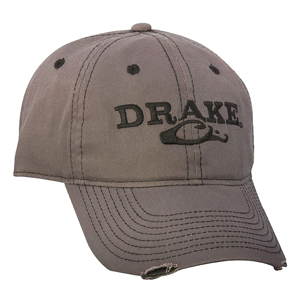 DRAKE Solid Distressed Cap (DH2004-GRY)