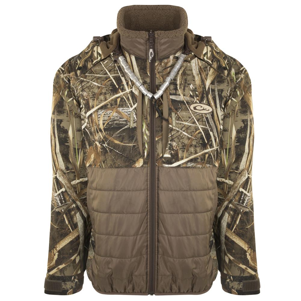 DRAKE LST Guardian Flex Double Down Eqwader Full Zip with Hood Jacket