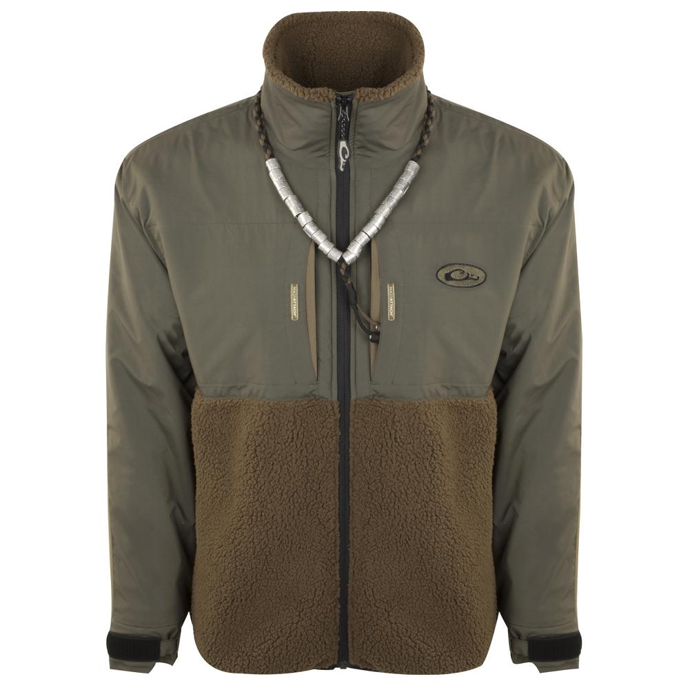 DRAKE MST Guardian Flex Sherpa Fleece Eqwader Full Zip Jacket