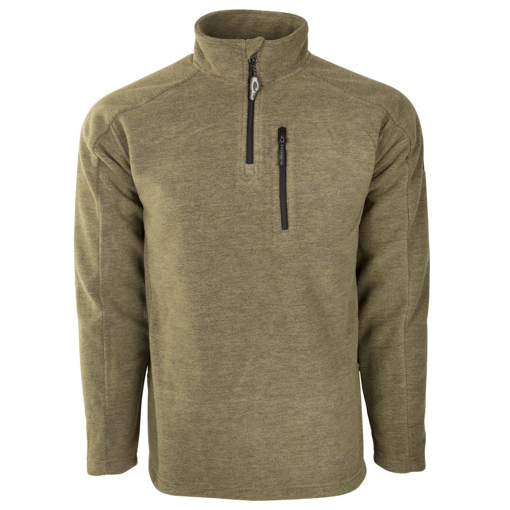 DRAKE Heathered Windproof 1/4 Zip Jacket