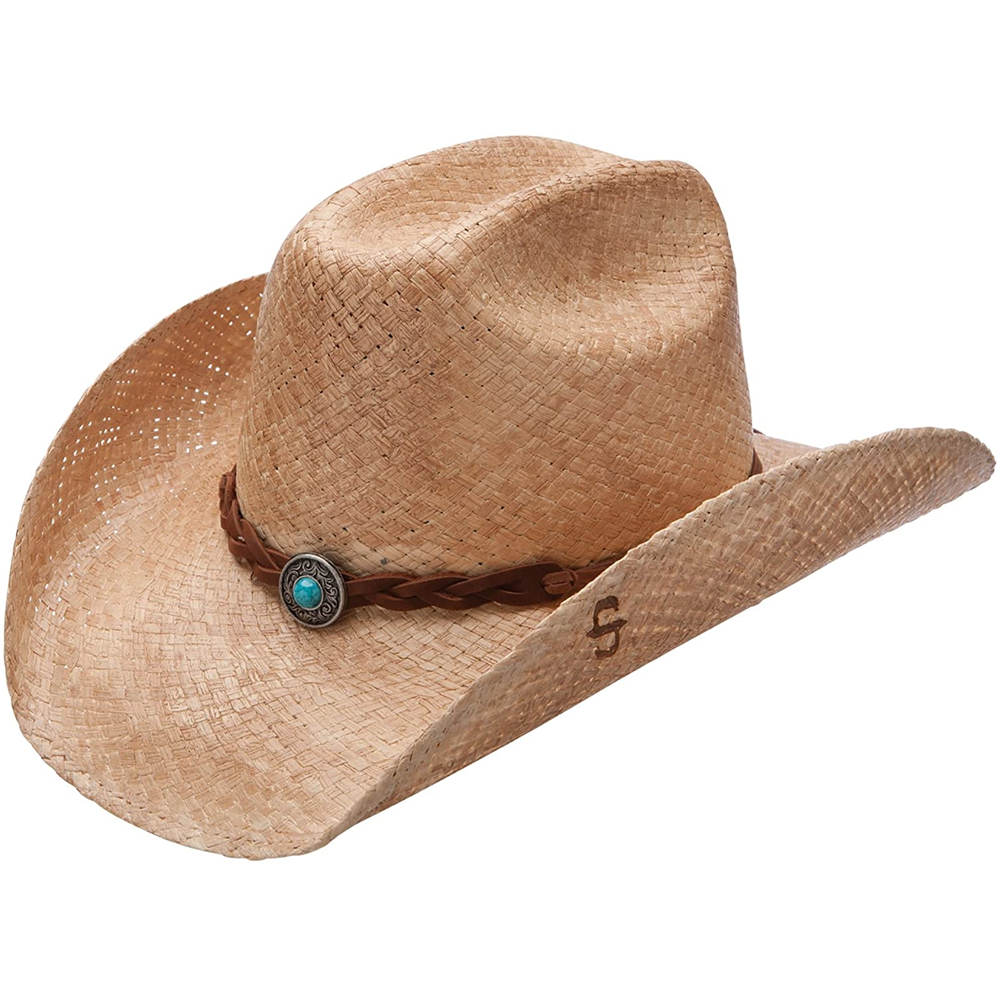 STETSON Flatrock Natural/Burned Cowboy Hat (SSFLTR-7434BU)