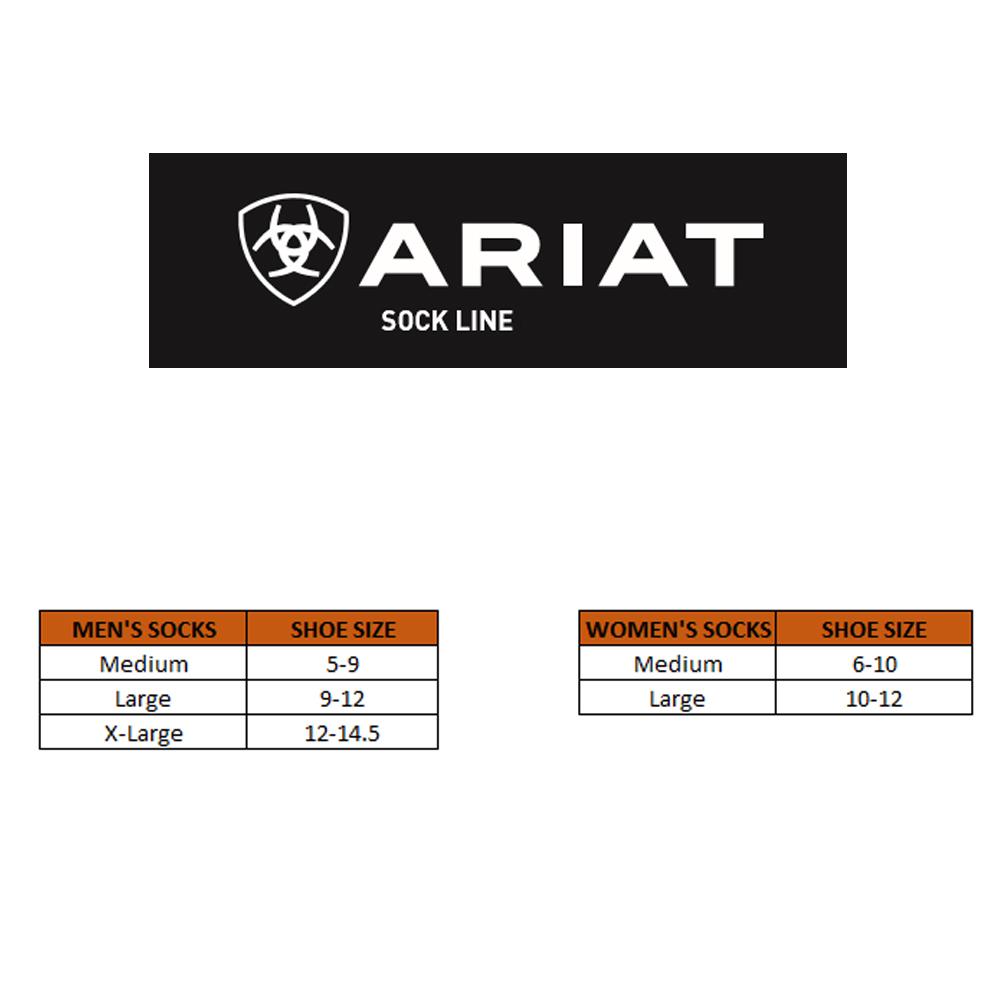 ARIAT Cotton Crew 3-Pair Pack Sock (AR2239)