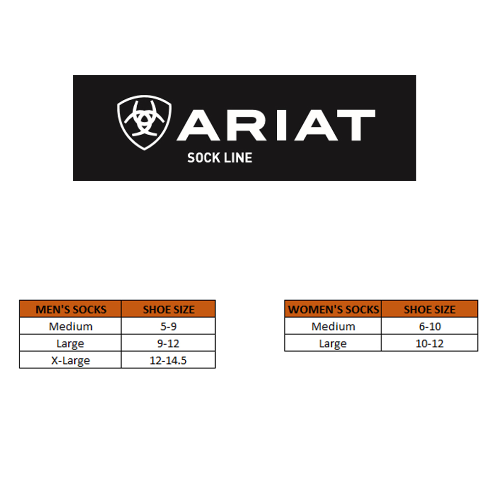 ARIAT Mid Weight Performance Sock (AR2229)