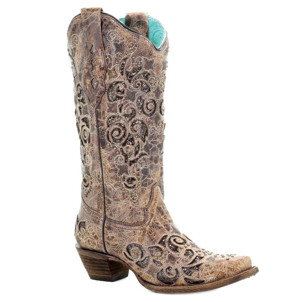 CORRAL Women's Inlay and Studs Boot (A3228-LD)