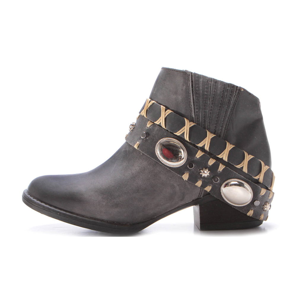 CORRAL Womens Circle G Harness Black Ankle Boots (Q5064-LD)