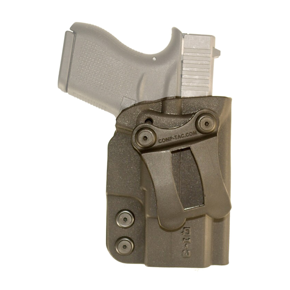 COMP-TAC QI IWB Kydex Modular Size 3 PPS Holster For Glock 43/Walther (C57200000NQ3N)
