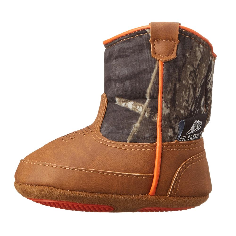 DBL BARREL Infant Boys Gunner Mossy Oak/Orange Baby Buckers Bootie (44212222)