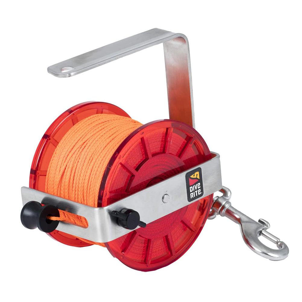 DIVE RITE Primary 400 Orange Line Reel (RE4320)