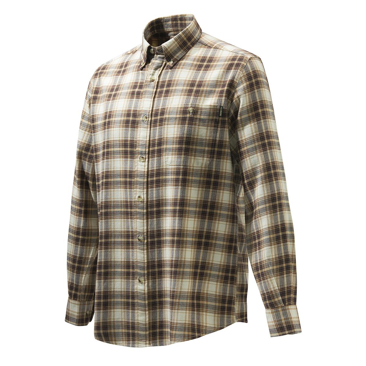 BERETTA Wood Flannel Button Down Shirt