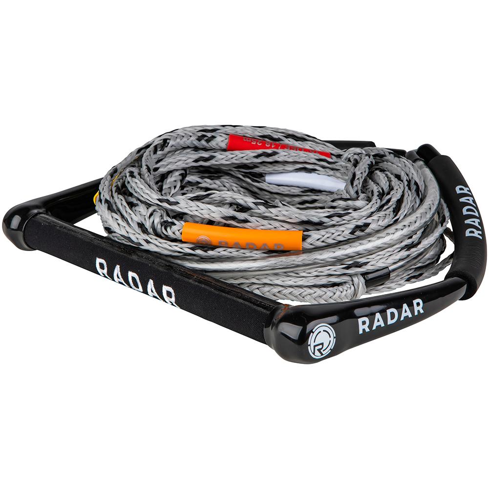 RADAR Kneeboard/Freeride 14in Black/Silver Grip Handle with 5-Section Mainline (216075)