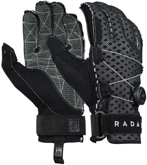 RADAR Vapor-K BOA Inside-Out Black/Gray Ariaprene Gloves (215012-par)