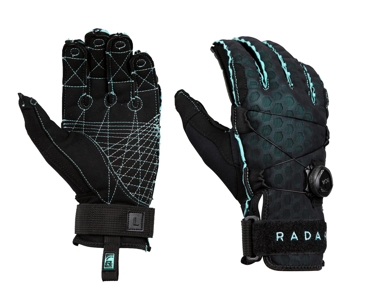 RADAR Vapor-A Boa Inside-Out Black/Mint Ariaprene Gloves (215022-par)