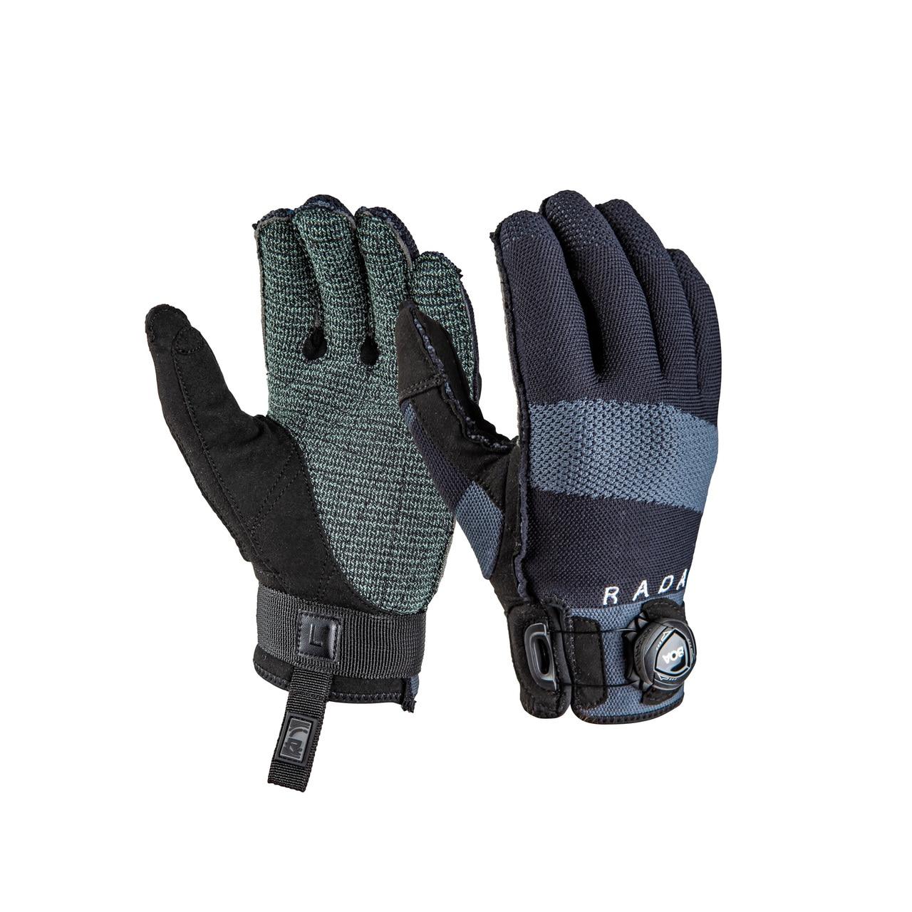 RADAR Engineer BOA Inside-Out Black/Gray Gloves (215002-par)
