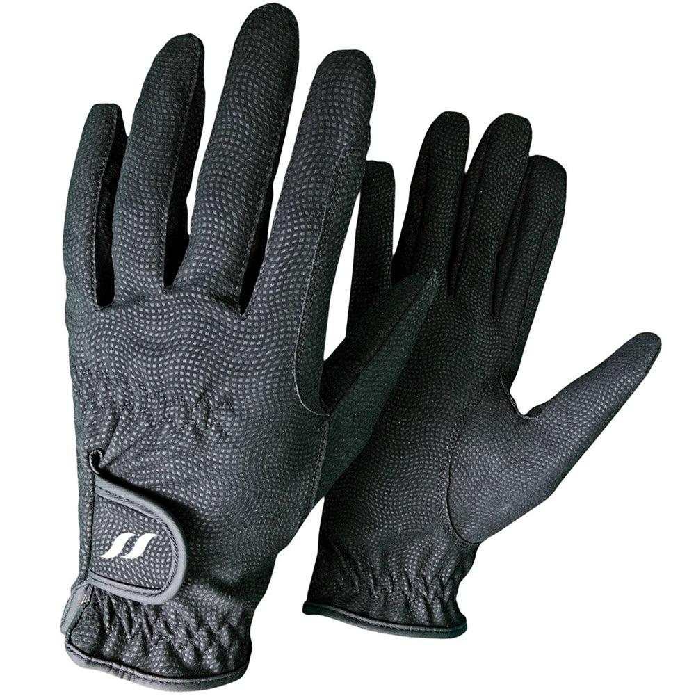 BACK ON TRACK Black Riding Gloves (136000)