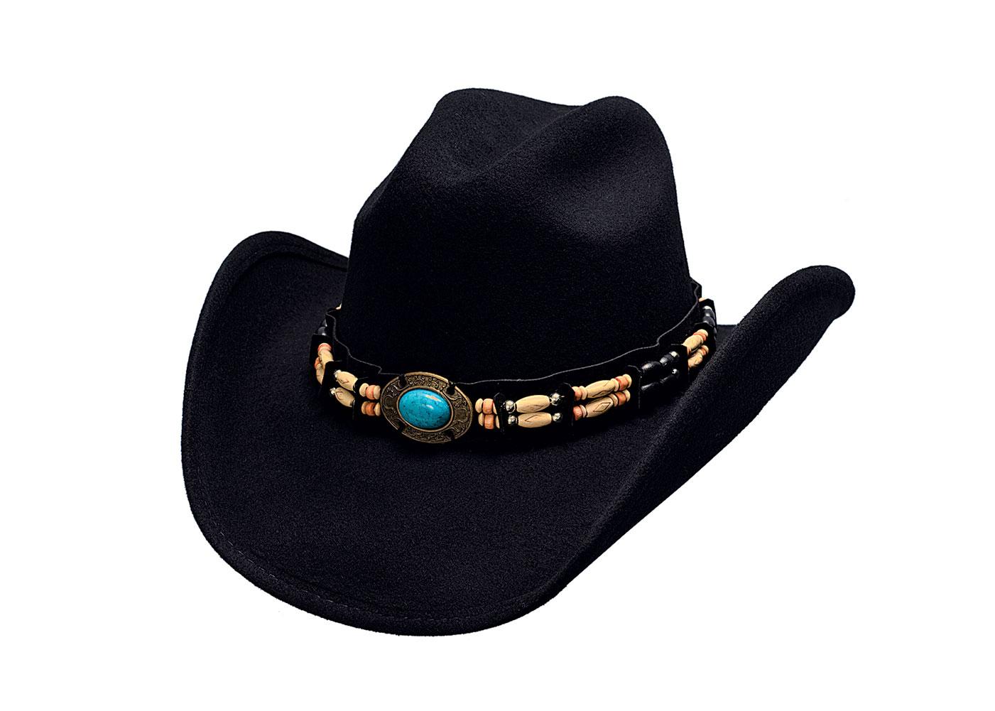 BULLHIDE Fortune Black Cowboy Hat (0581BL)