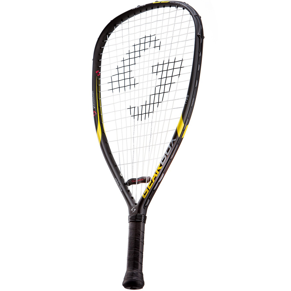 GEARBOX GB125 170g 3 15/16in Black/Yellow Racquetball Racquet (16R01-2)