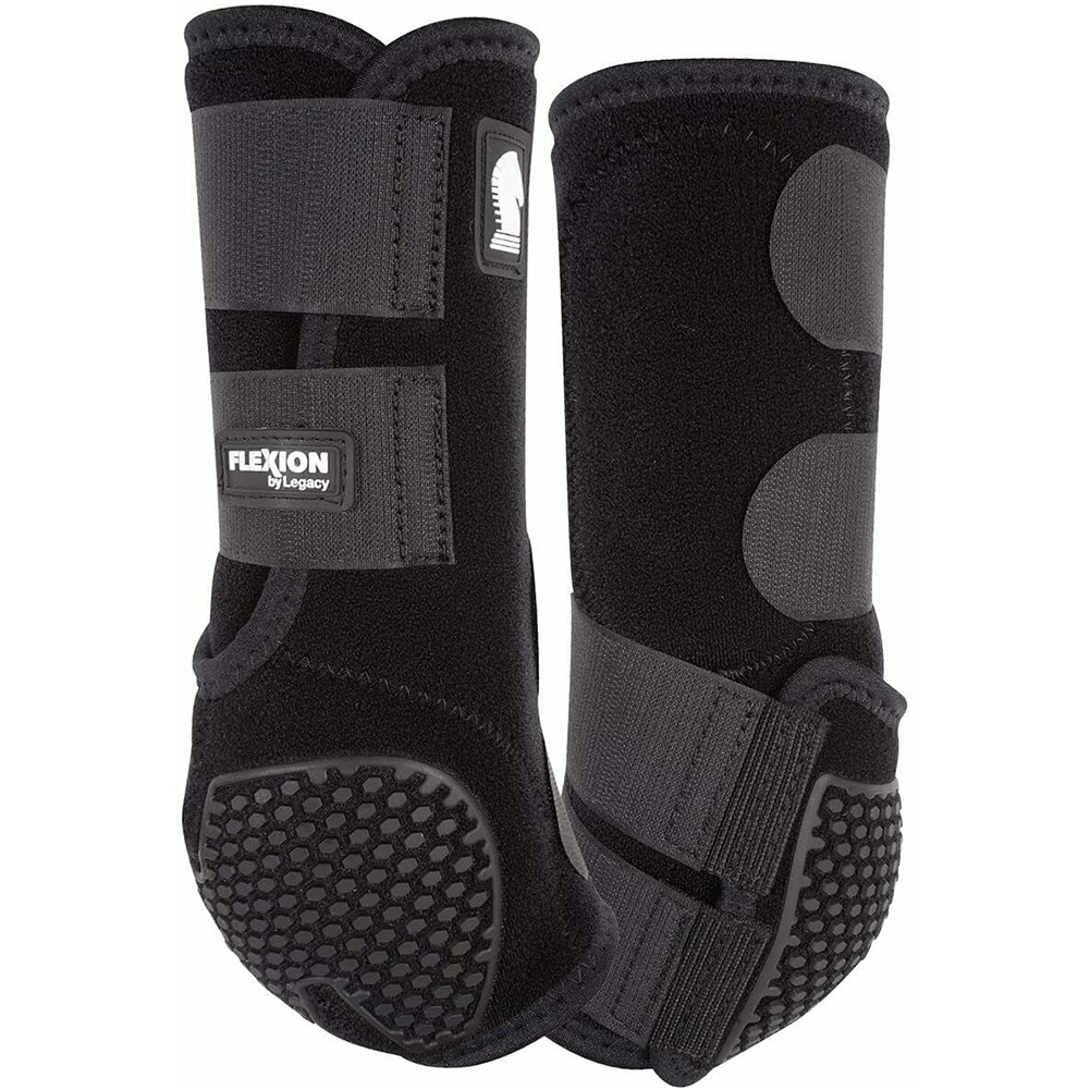 CLASSIC EQUINE Flexion by Legacy2 Black Hind Support Boots (FCLS202BK)
