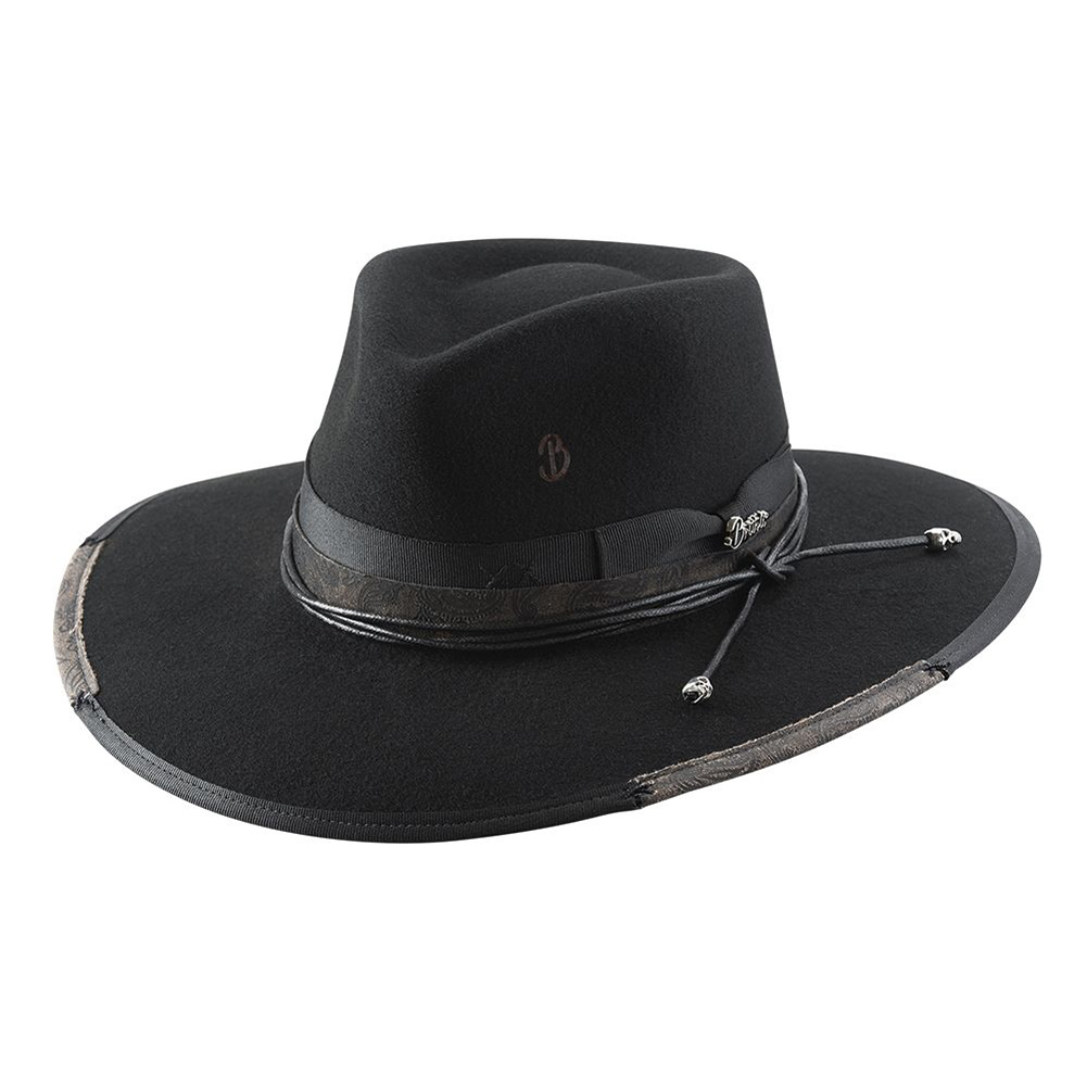 BULLHIDE Reloaded Black Wool Felt Cowboy Hat (BR0028)